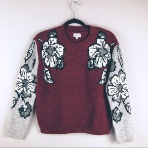 Silverlfint Floral Chenille Sweater - Size XS